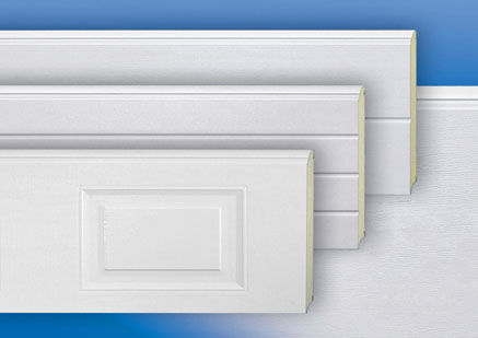 Sectional door panels